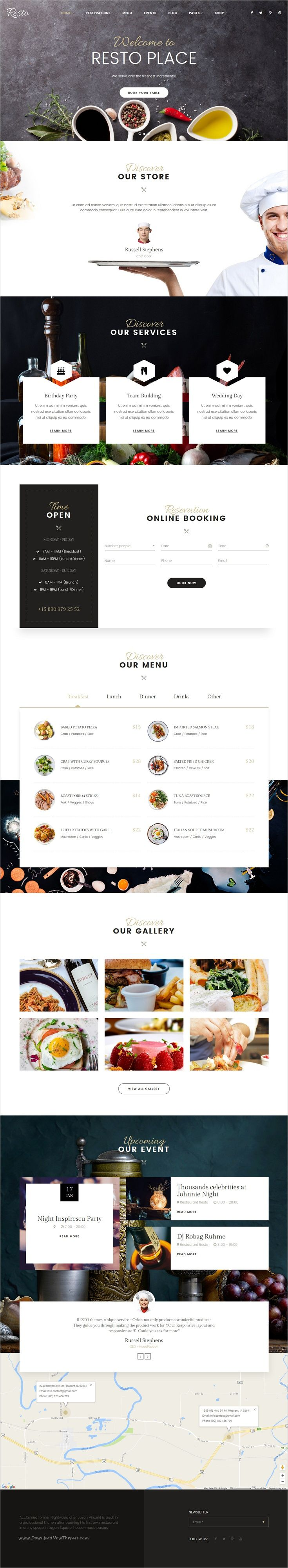 Resto is an attractive and responsive #Joomla template for #restaurant and #cafe website with 6 unique homepage layouts download now➩  https://themeforest.net/item/resto-multipurpose-restaurant-cafe-joomla-template/18682848?ref=Datasata