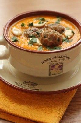тыквенный суп-пюре с фрикадельками