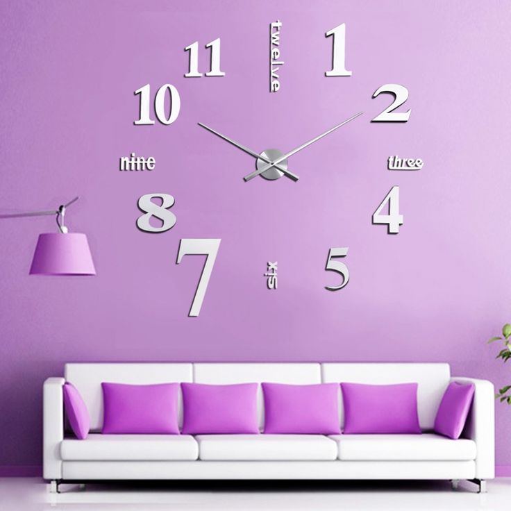 Cheap mirror sticker, Buy Quality clock 3d directly from China 3d mirror Suppliers: DIY Digital Large Wall Clock 3D Mirror Sticker Big Watch Home Decor Unique Christmas Gift  Silver Color