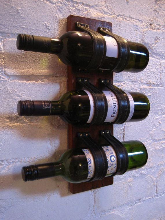 Bike inner tube wine rack