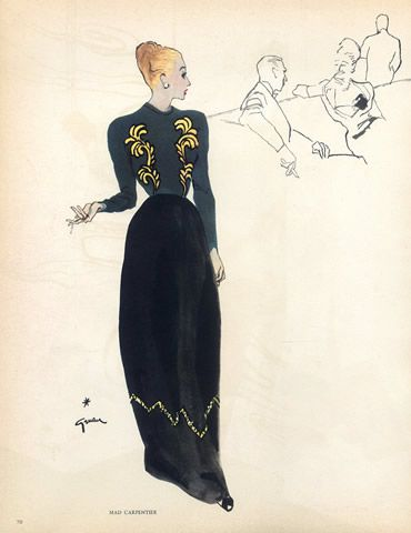 Mad Carpentier (Couture) 1945 René Gruau