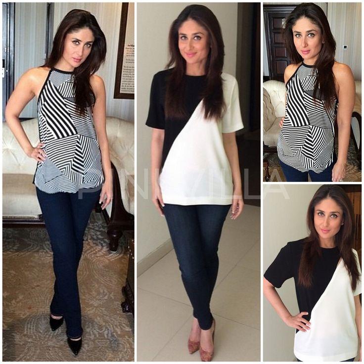 Kareena Kapoor goes monochrome for 'Singham Returns' promotions
