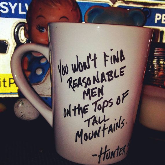 #handpaintedmugs #coffeemugs #coffeelovers #huntersthompson #mugsforsale #stockingstuffers #blackfridaydeals https://www.etsy.com/listing/482863556/hunter-s-thompson-quote-hand-painted