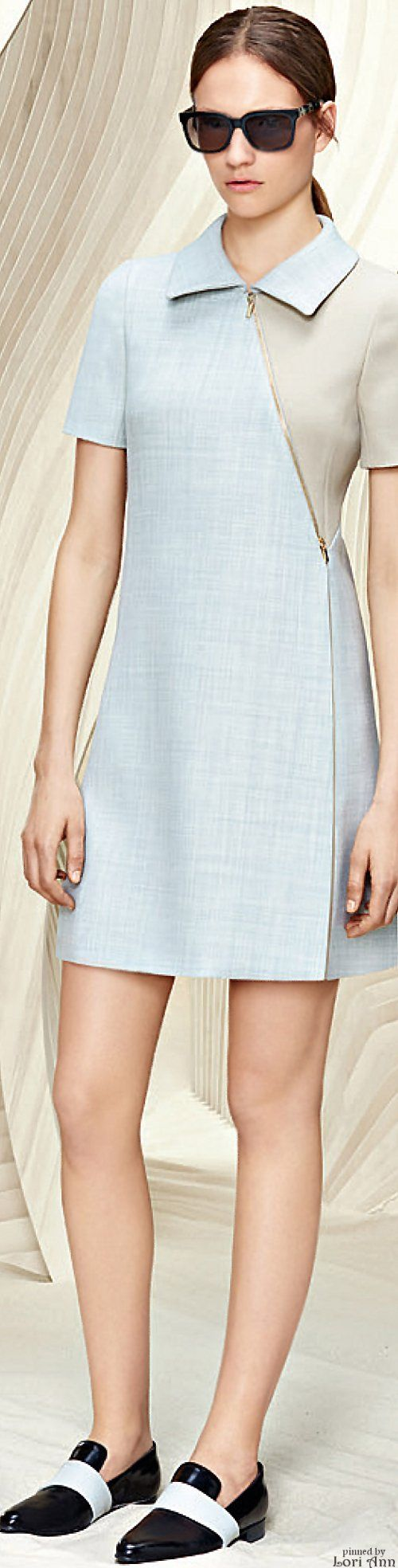 Boss ~ Resort Pale Blue Asymmetrical Dress 2016.  With a slightly longer hemline