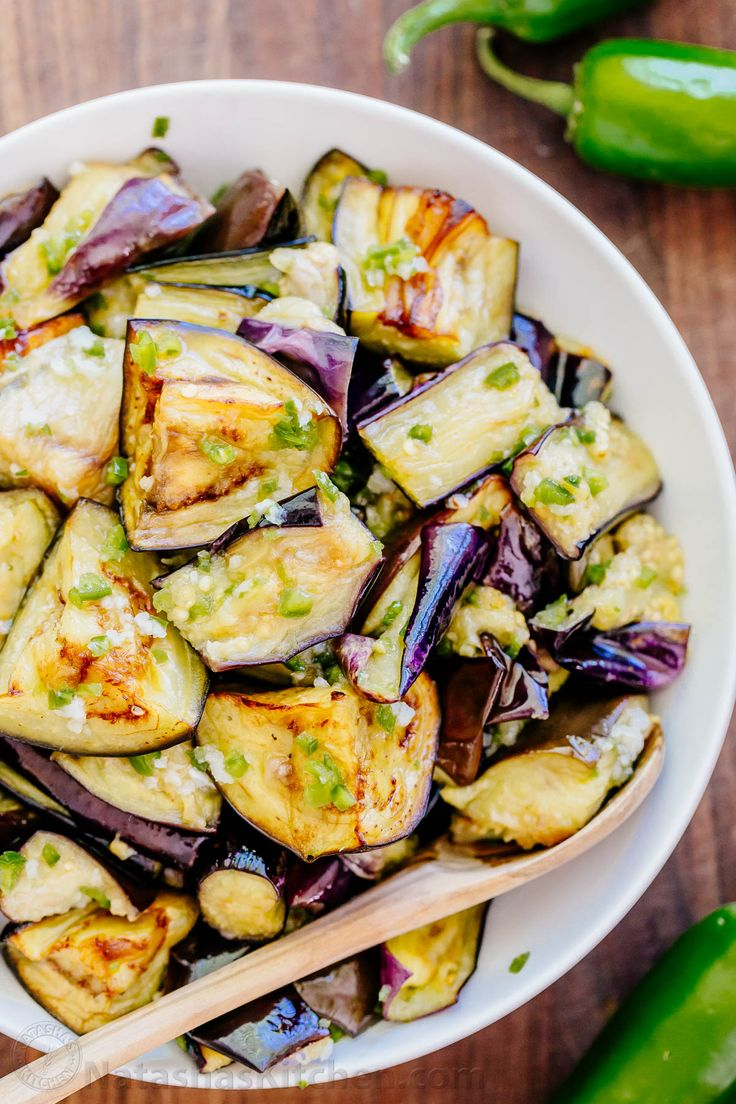 "Spicy eggplant is my all-time favorite eggplant recipe. Hands down. Ogoniok (Огонек) means ""little fire."" Must-try eggplant recipe from the old country! 