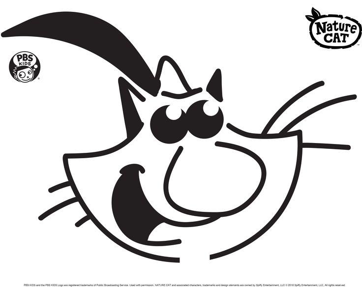 Natur-Katzen-Kürbis, der Schablone schnitzt. Fröhliches Halloween! . PBS Eltern