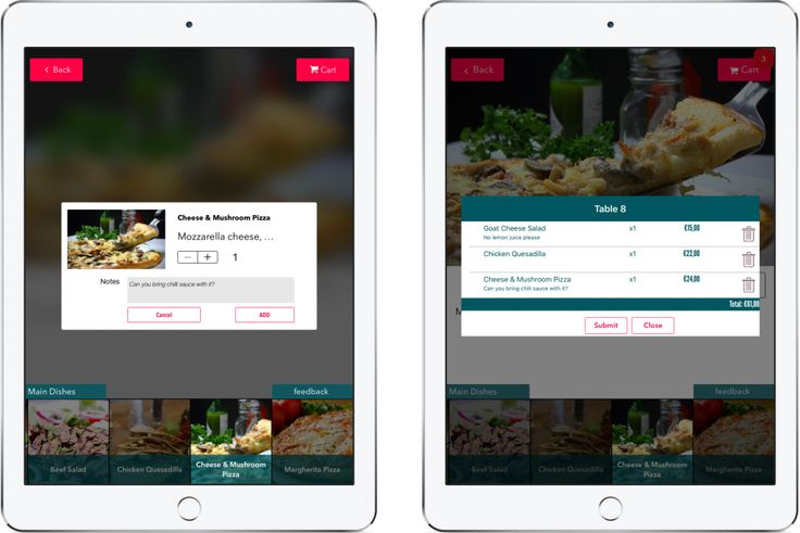 With order management, your customers can send orders directly to control panel or orders can stay in your tablets. You can thereby view all received orders only on tablets or both on tablets and control panel.  #tabletmenu #menuapp #tabletorder #orderfromtablet #restaurant #tablet #menu