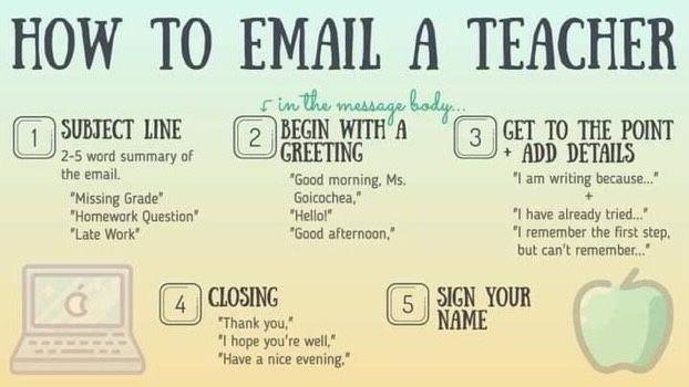 How To Email A Teacher Online Teaching Teacher Life School Counselor