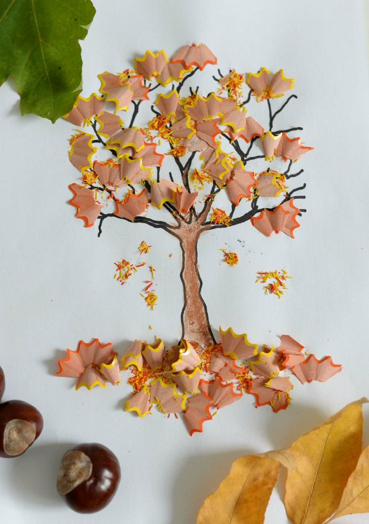 #Bastelideen #Herbst #Kindergarten mit Spitzabfall…