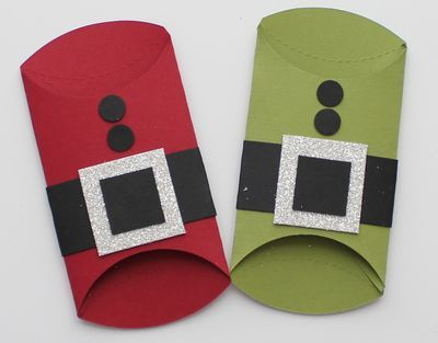 Utensil Holders for Christmas Dinner - Stamp with Heather--would be so cute for a kids table!