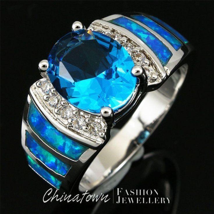 MY MATCHING BLUE PINKY RING