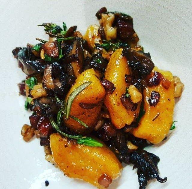 New post on crapkitchen: Pumpkin gnocchi with chorizo, mushrooms and walnuts