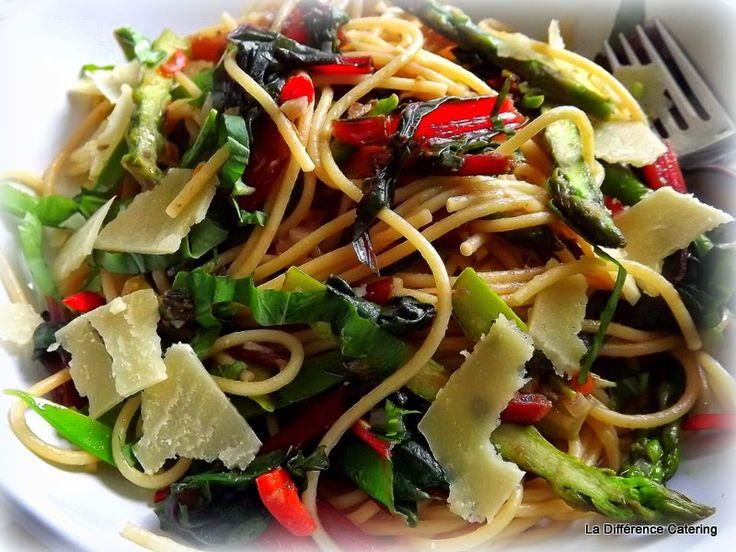 La Différence: Spaghetti Primavera | Spaghetti primavera. Pasta dishes. Cooking recipes
