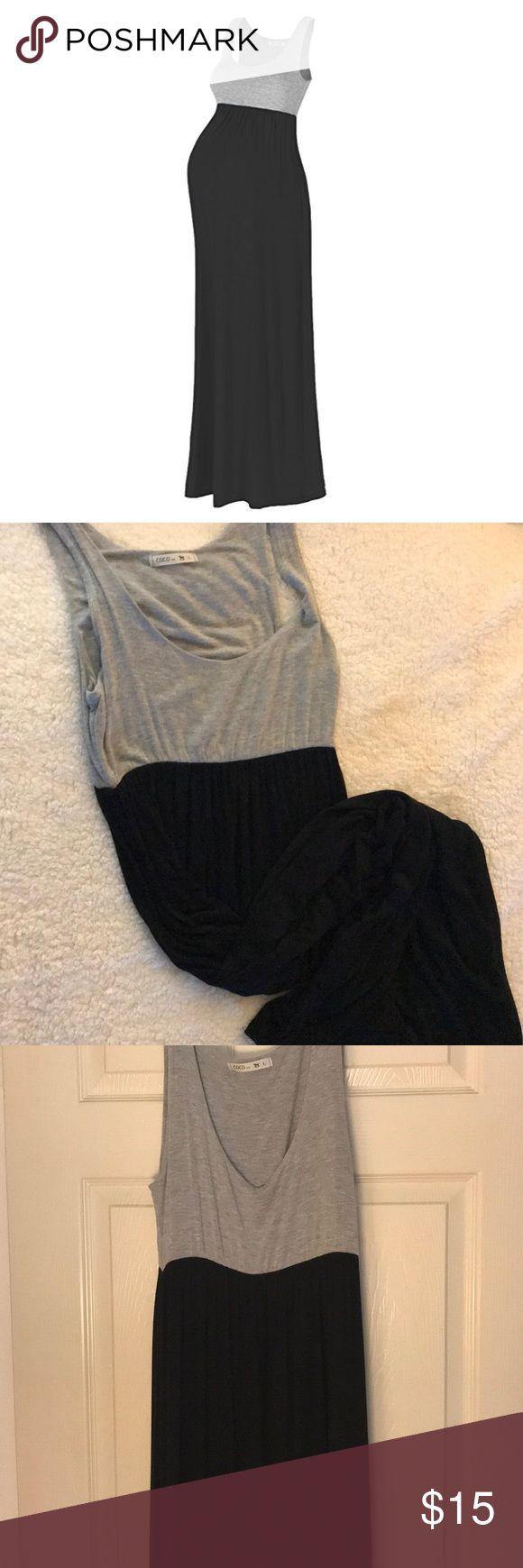 Maternity dress Beach coco black & grey maternity dress , so comfy ! Worn once Beachcoco Dresses Maxi