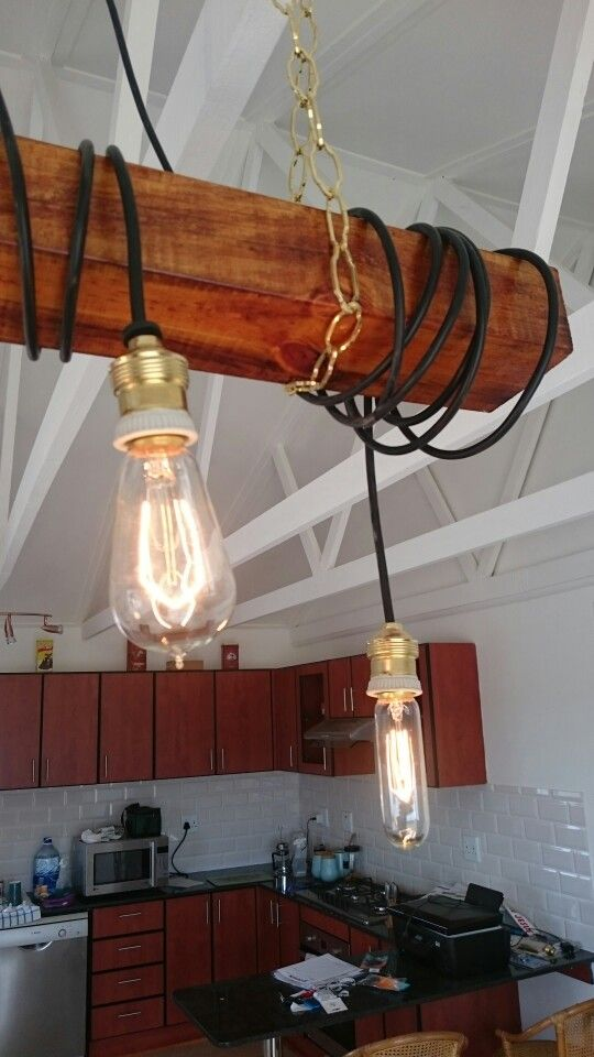 Close-up of Edison lamps. I added a dimmer switch to the house.