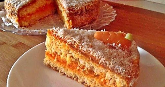 Riquísima tarta de zanahoria y coco, jugosa y deliciosa hará las delicias de todos.