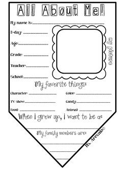 Start off the school year with this cute back-to-school activity! This All About Me pennant can be used for bunting to decorate your classroom. Have your students fill out the information and include their picture! Enjoy!