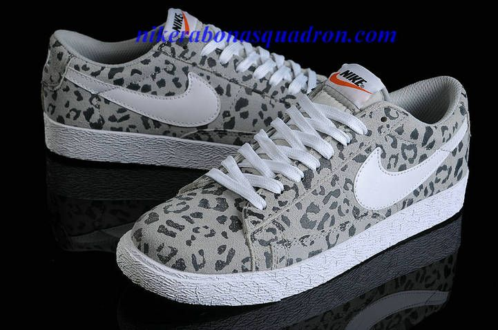 Nike Blazer Low Shoes Cheap For Sale In Grey Leopard 511427 472