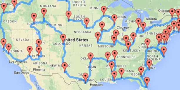 Just in time for the National Park Service's 100th anniversary!​ // map of all 47 national parks road trip