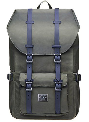"""Laptop Outdoor Backpack, Travel Hiking& Camping Rucksack Pack, Casual Large College School Daypack, Shoulder Book Bags Back Fits 15"""" Laptop & Tablets by Kaukko (Nylon Armygreen). For product & price info go to:  https://all4hiking.com/products/laptop-outdoor-backpack-travel-hiking-camping-rucksack-pack-casual-large-college-school-daypack-shoulder-book-bags-back-fits-15-laptop-tablets-by-kaukko-nylon-armygreen/"""