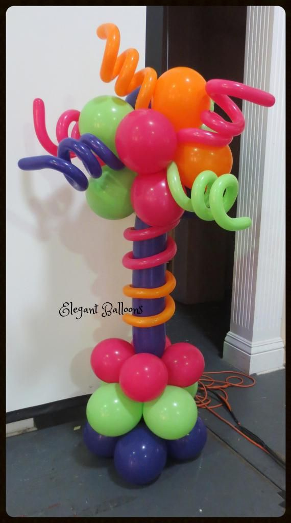 Air filled frameless balloon column elegant balloons