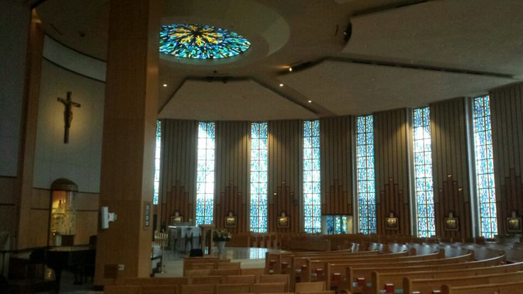 St. Monica's Dallas beautiful stained glass