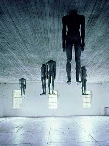 #installation by Antony Gormley