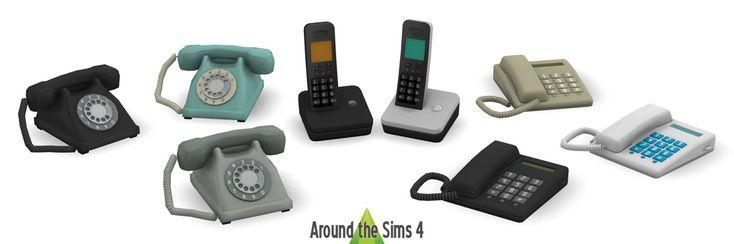 Around the Sims 4 | Custom Content Download | Home Phones – Jordan Bell