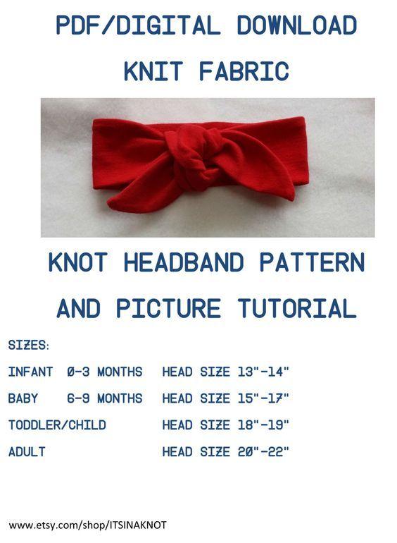 Pdf Pattern Tutorial Hand Embroidery Stitch My Garden 002: Headwrap Pattern,Tutorial Knit Top Knot Pattern,Headwrap