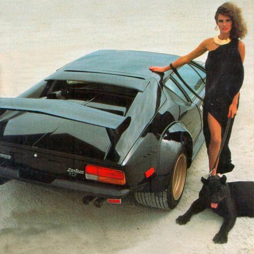 80s Glam Girl With De Tomaso Pantera And...