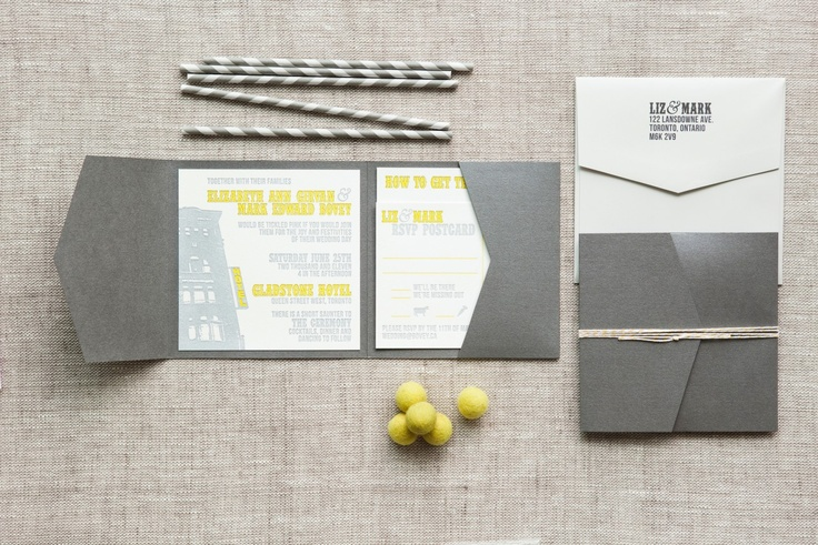 Liz & Mark - Paper & Poste Custom Invitation Suite