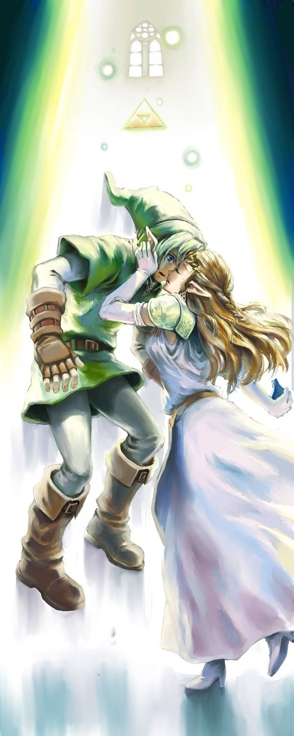 Link and Zelda. Will these two ever get married geez (With ...