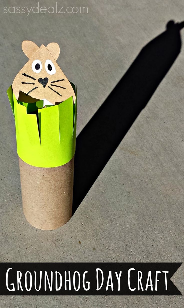 Groundhogs day toilet paper roll craft for kids for Toilet roll art for kids