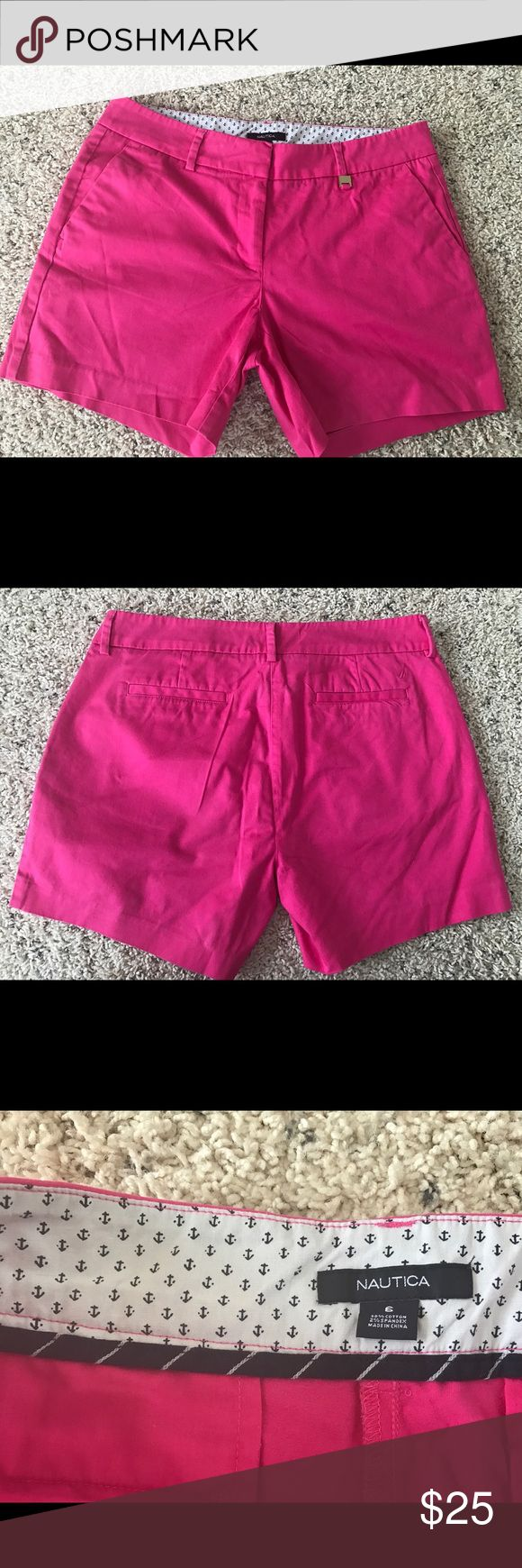 Nautica women's pink shorts size 6 Excellent condition Nautica pink shorts 6 inches inseam. Nautica Shorts