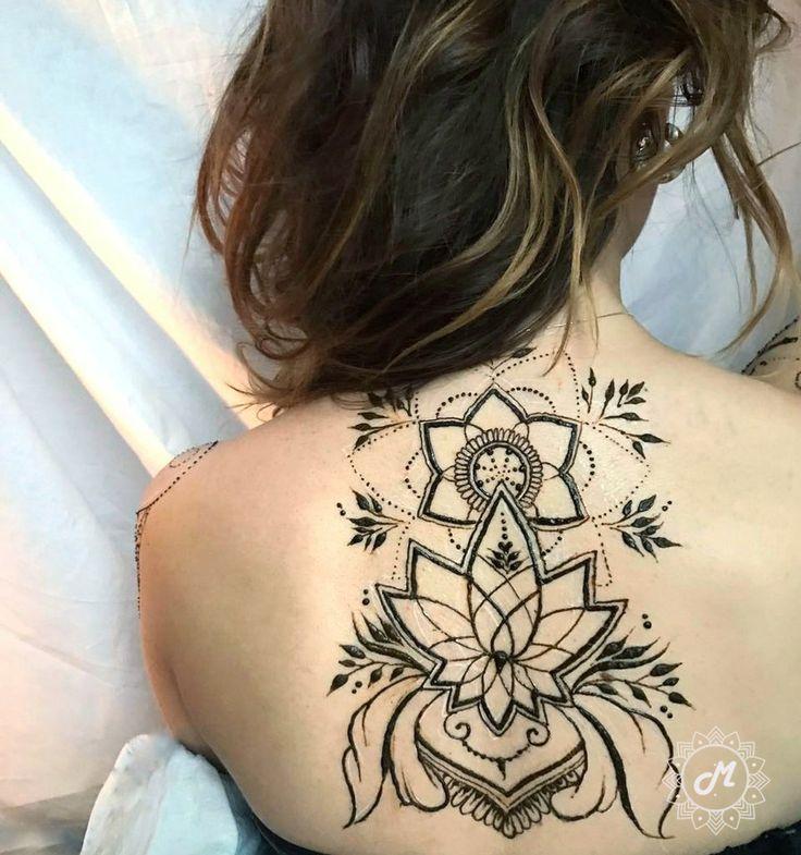 Henna art on the back Роспись мехенди на спине #mehndi #henna #art