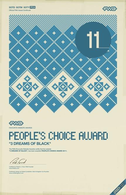 Northkingdom design the FWA awards #certificate #design #posters