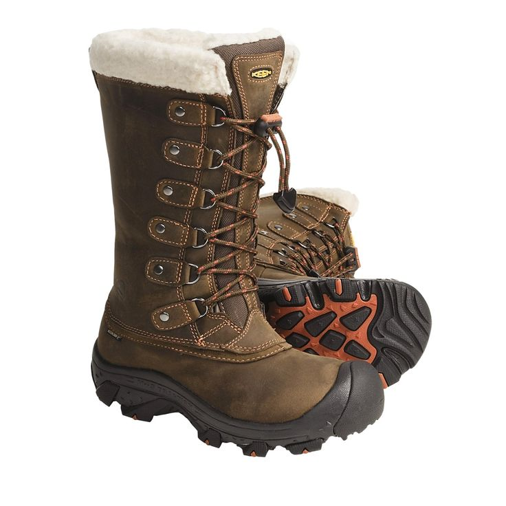 Keen Alaska Boots - Waterproof, Insulated (For Women) in Slate Black/Rust