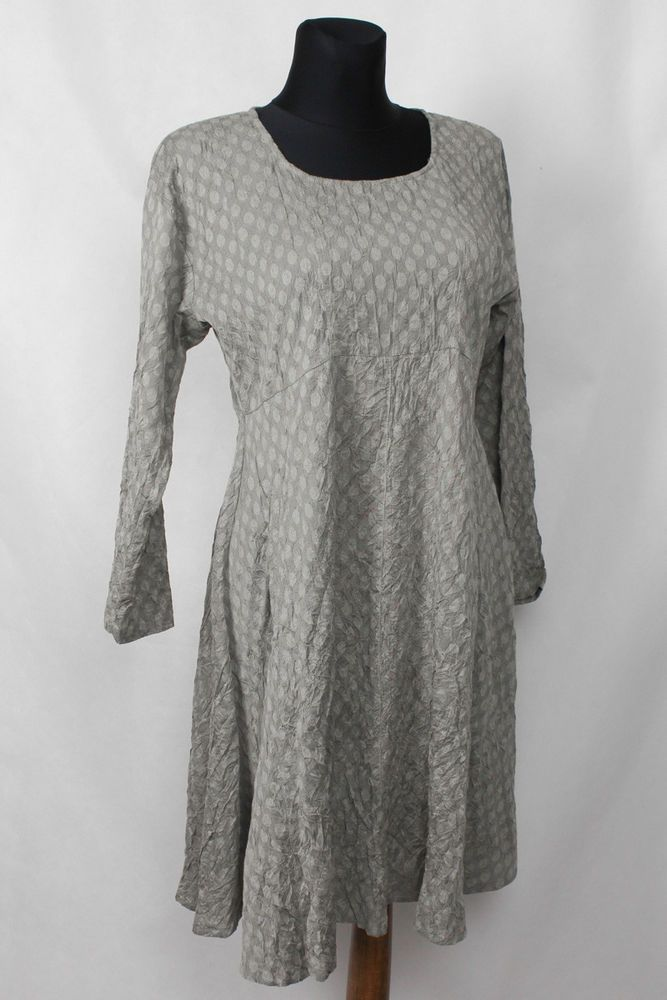 02f33f89dd53 THE MASAI COMPANY CRUSHED LOOK KLEID KLÄNNING KJOLE ROBE ABITO DOTS GR.