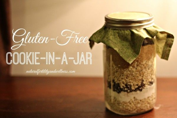 Gluten Free Oatmeal Cookie in a Jar - makes a great Christmas gift!