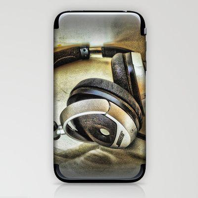 Headphones iPhone & iPod Skin by AngelEowyn. $15.00