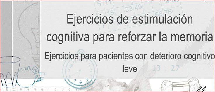 EJERCICIOS DE ESTIMULACIÓN COGNITIVA. NUEVO LIBRO DE LIBRE DESCARGA