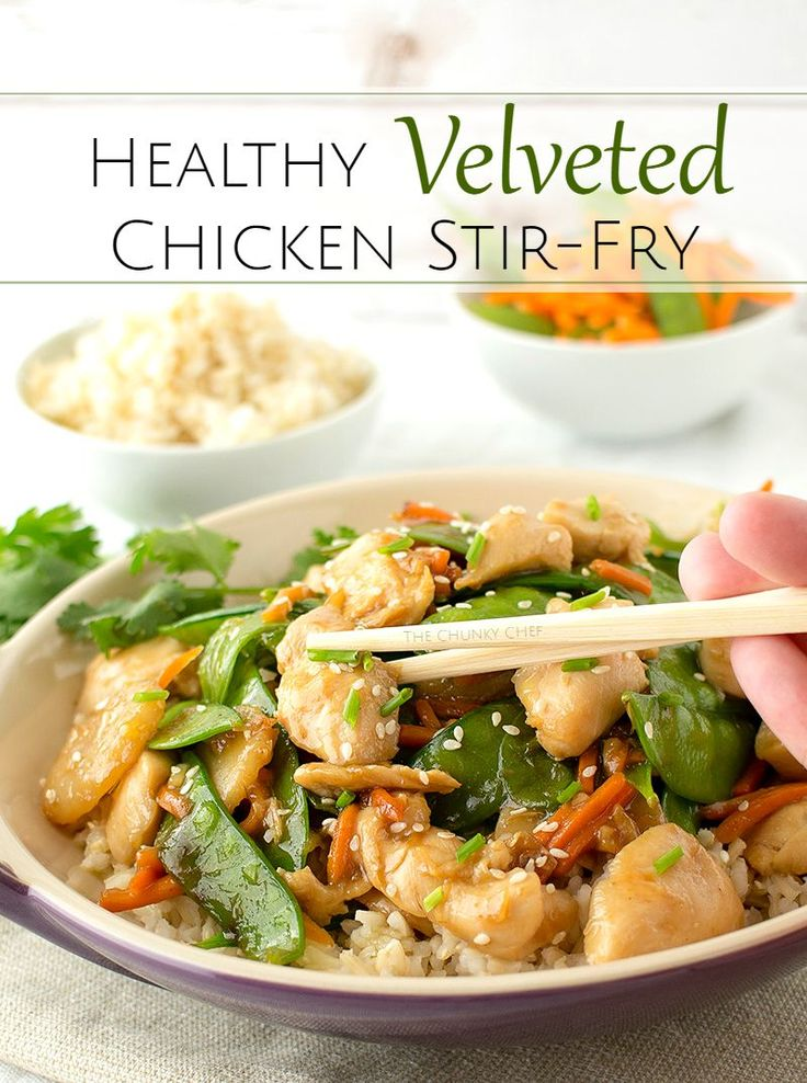 Chicken Stir Fry | The Chunky Chef | This healthy chicken stir fry ...