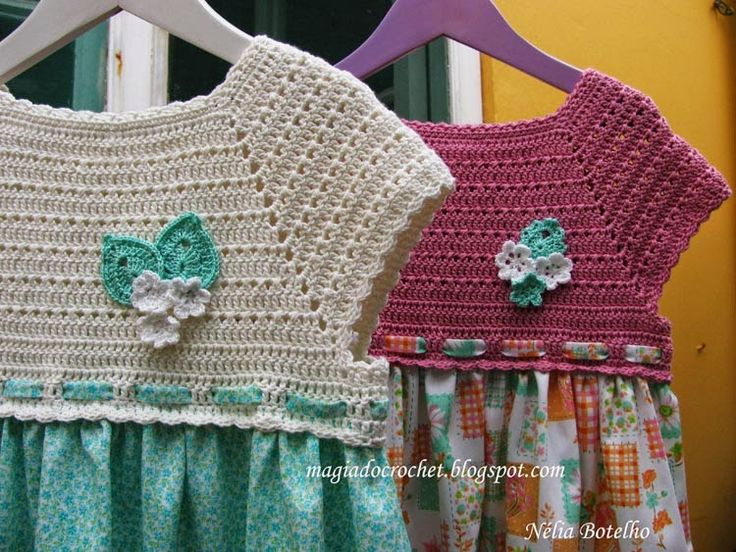 Magia do Crochet: Crochet e costura...mais vestidos.