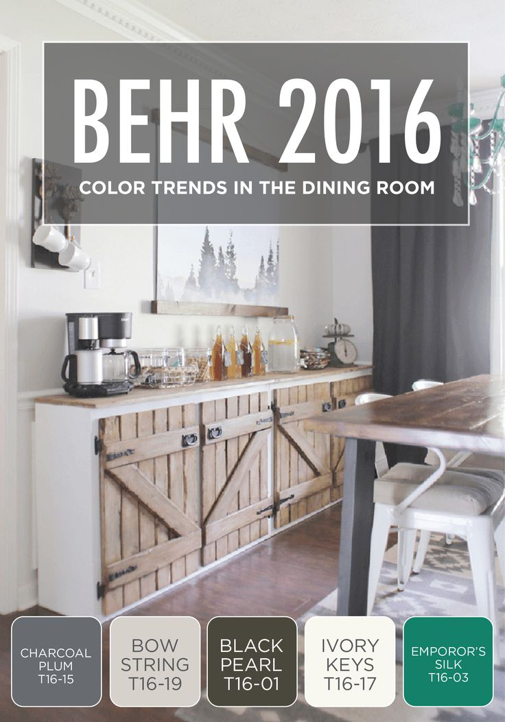 Check Out The Transformation This Dining Room Goes Through With Help Of 2016 BEHR