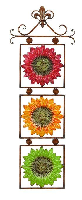 Benzara Metal Sunflower Decor Wide Gift for Every One, 13""