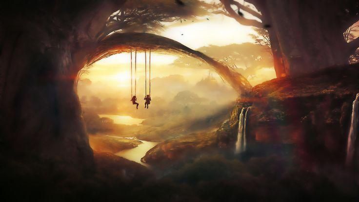 Fantasie Landschap  Wallpaper