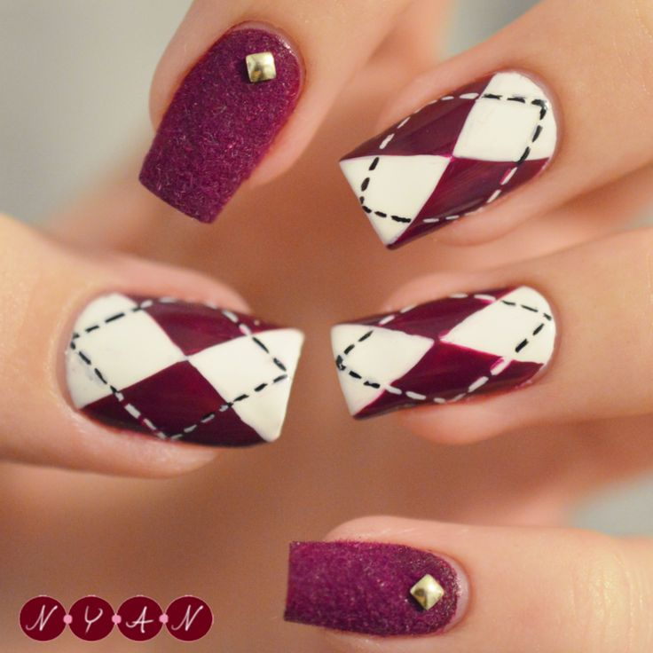 Argyle Nail Art                                                                                                                                                                                 More