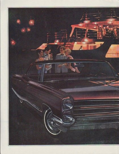 """Description: 1966 PONTIAC vintage magazine advertisement """"Everybody tried"""" -- Everybody tried to improve on the '65 Pontiac. We did ... and what we wound up with (and nobody else even came close to) was a new improved version of the success car of the year. Same Wide-Track ride -- only smoother ... In fact, we even introduced three new Broughams, four new Venturas and a new Star Chief Executive hardtop coupe in the belief that the world can always use more of a good thing ... The tiger…"""