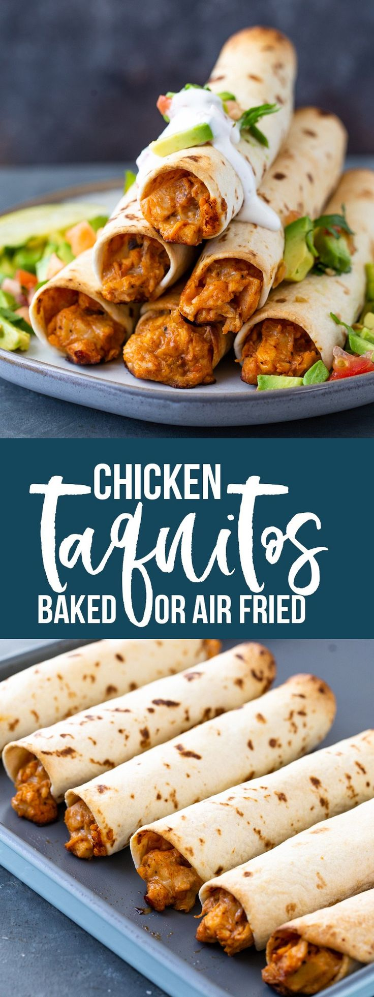Chicken Taquitos (Baked or AirFryer) Gimme Delicious in