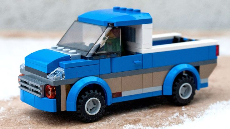 How to build tutorial for custom LEGO City pick up car made from pieces of single 60117 camper van set. Follow instructions and make this easy to build model...